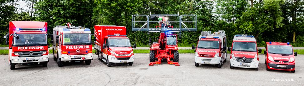 Einsatzfahrzeuge Feuerwehr Mauerkirchen